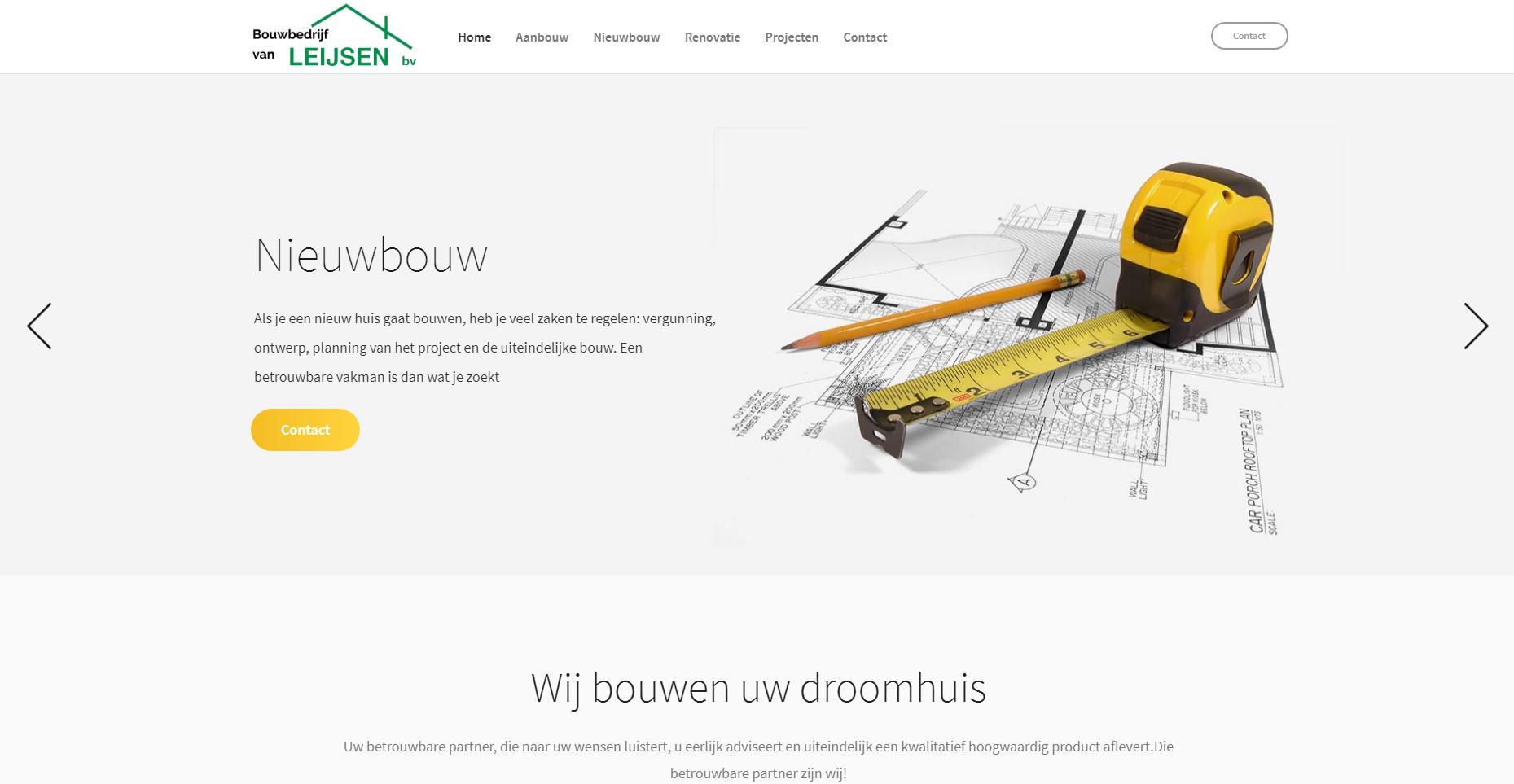 Lancering Website Bouwbedrijf van Leijsen