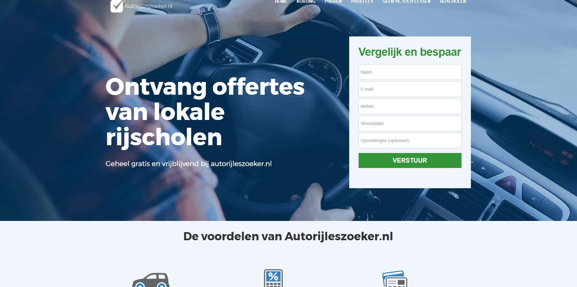 Ziecro bouwt de website Autorijleszoeker.nl